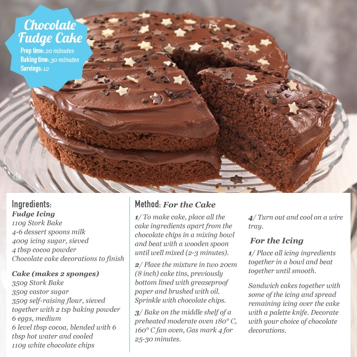 South African Chocolate Fudge Cake Recipe