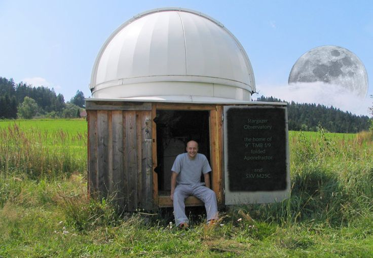 Amateur astronomical observatory space