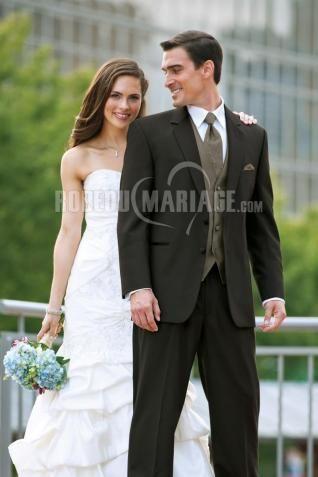 Excellent jaquette de marié costume homme pour mariage satin [#ROBE208093] - robedumariage.com