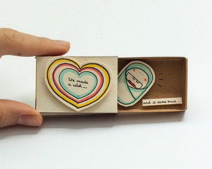 Открытка, открытка из спичечных коробков