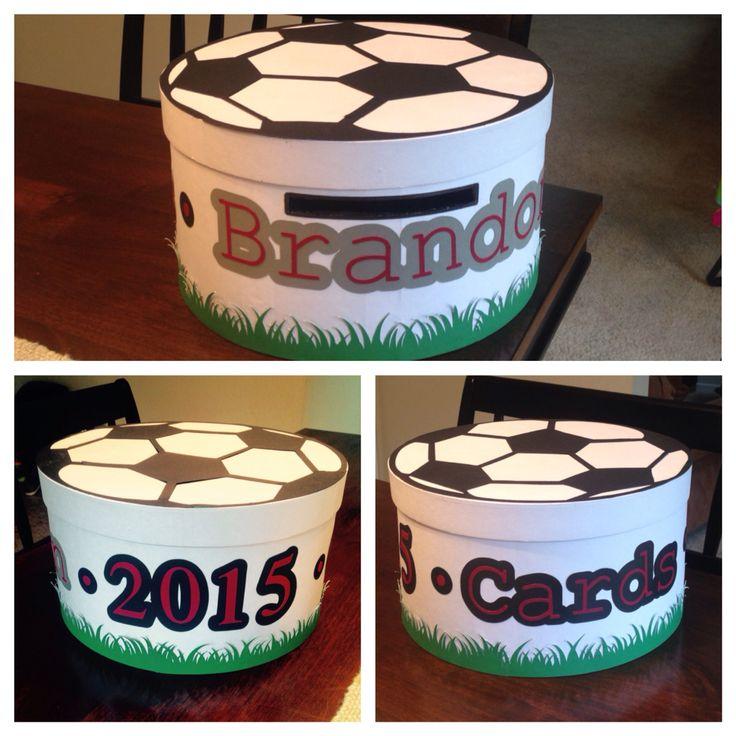 Soccer ball graduation card box