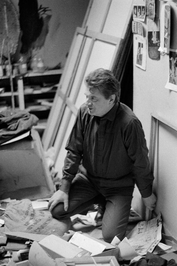 Francis Bacon in his studio, 1961 - photo by Mario Dondero