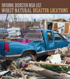 Natural Disaster Risk List| Worst Natural Disaster Locations #SurvivalLife www.survivallife.com