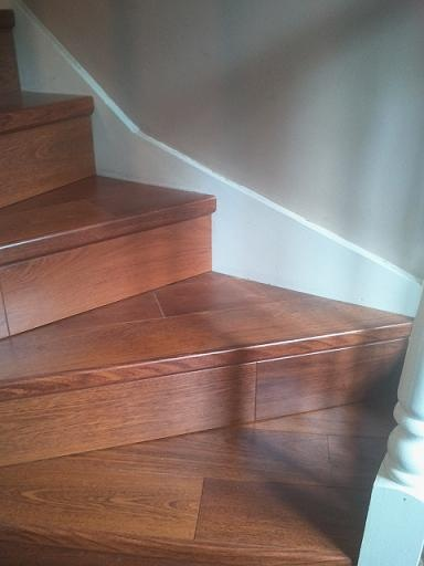 17 best images about laminate stairs and landing on for Cheapest quick step laminate flooring