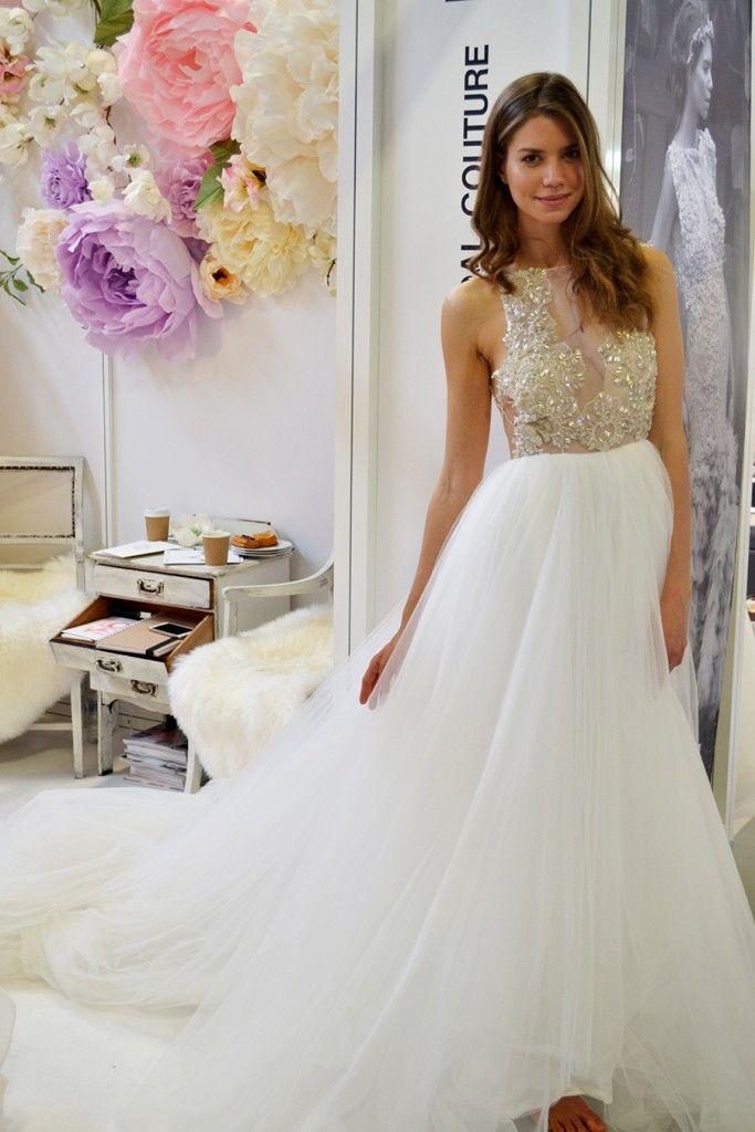 Illusion bodice bridal trend