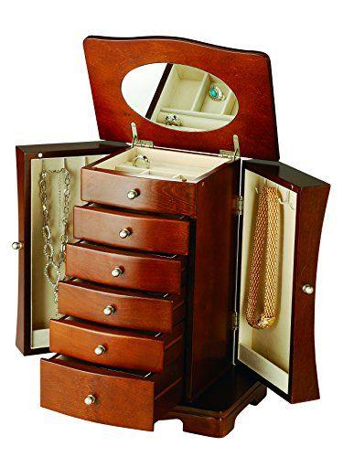 """Modern Jewelry Box (Walnut) (13.75""""H x 10.25""""W x 7""""D) 10 Stars http://www.amazon.com/dp/B004B02MN8/ref=cm_sw_r_pi_dp_8q3Qwb09NK8CB"""