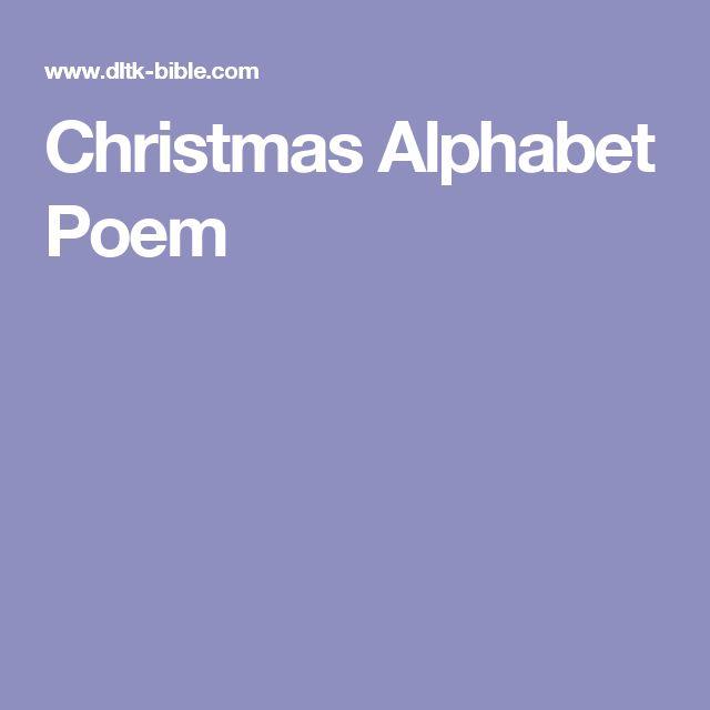Christmas Alphabet Poem