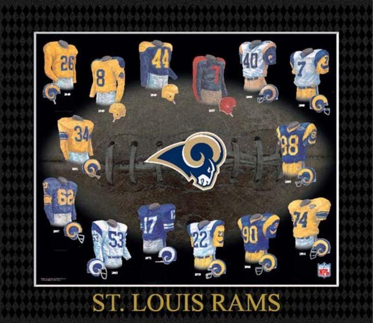 Evolution of The Team Uniform Framed Photograph - NFL - Saint Louis Rams