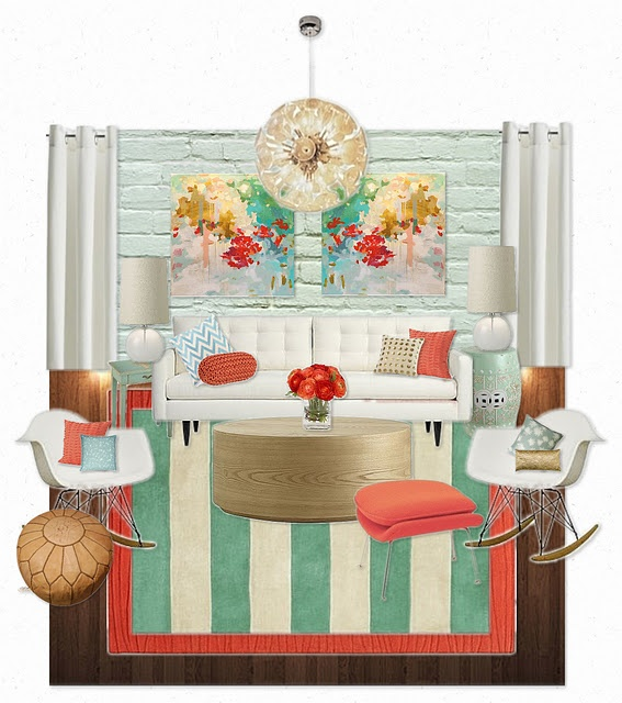Bedroom Colors For Girls Room Bedroom Wall Paint Color Ideas Shabby Chic Bedroom Sets Baby Bedroom Design Ideas: 31 Best Images About Coral & Turquoise Interior On