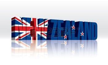 foto de mot nouveau: 3D Nouvelle Zélande Drapeau du texte Parole