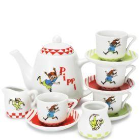 Åhlens Duka upp till kaffekalas med Pippi! Riktig servis i porslin med dekor. 12 delar. Från 3+  179:-  Nr. 19874437