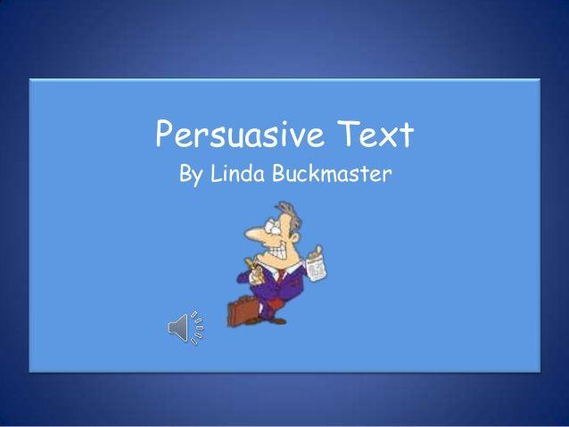 Persuasive text movie trailer
