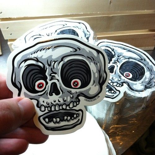 Skull stickers by strongedesigns