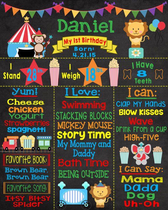 Festa di compleanno del circo circo di primo compleanno