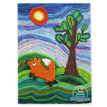 Картины из пластилина своими руками: мастер-класс «Лиса на лесной опушке»