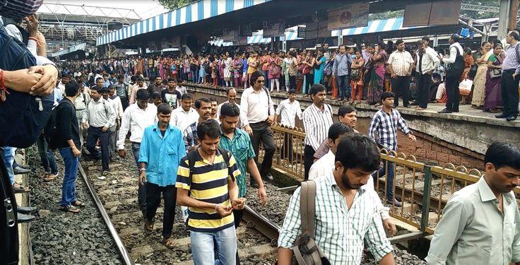 Local Train Derails in Mumbai - next day scenario