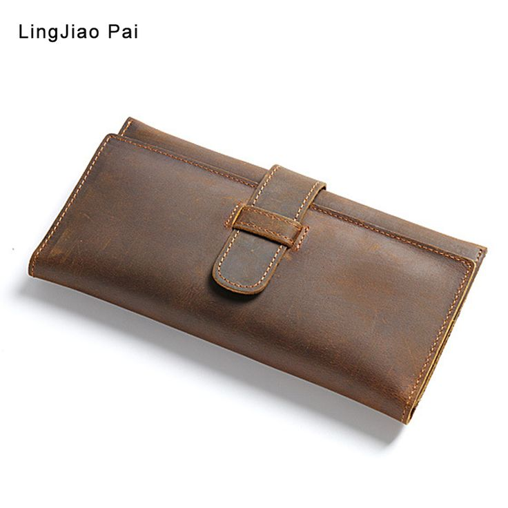 ==> [Free Shipping] Buy Best men wallet vintage cow crazy horse luxury leather Manual male purse carteira masculina original cowhide with cell phone pocket Online with LOWEST Price | 32820663034