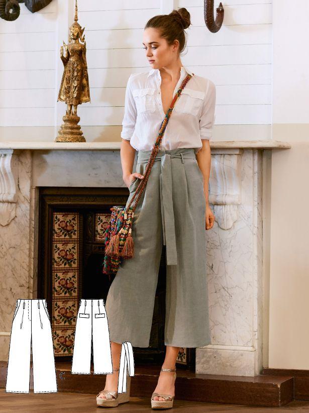Pleated Culottes 02/2017 #104C http://www.burdastyle.com/pattern_store/patterns/pleated-culottes-022017?utm_source=burdastyle.com&utm_medium=referral&utm_campaign=bs-tta-bl-170123-BohemianDeluxe104C