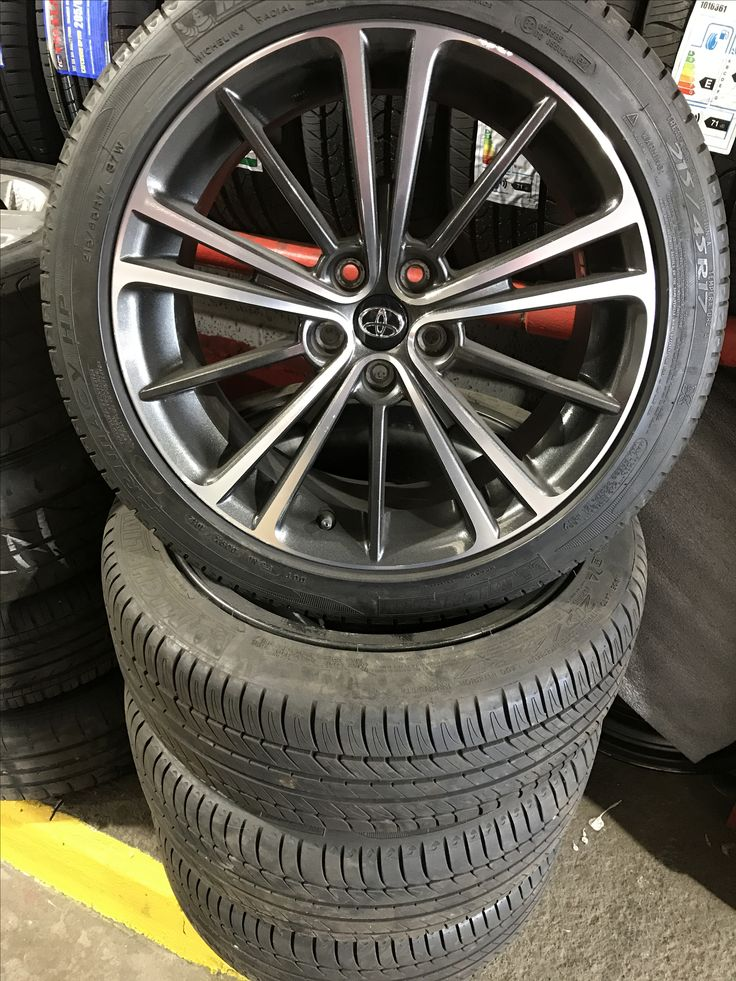 """Clearance deal. Original 17"""" Toyota GT86 wheels & excellent Michelin tyres. £250.00 Will also fit Subaru BRZ & some others too. 028 3834 3724. Four new cheap tyres would cost nearly that!"""