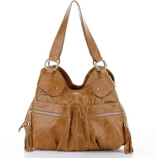 Shop for Vicenzo Leather Athena Tan Italian Leather Handbag. Get free delivery at Overstock.com - Your Online Handbags Outlet Store! Get 5% in rewards with Club O! - 17470860