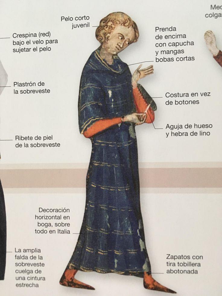 6.6 EDAD MEDIA: En el s. XIV se produjo el mayor avance de la moda en la Edad Media. Fue el paso de las prendas sin forma, drapeadas y sujetas con un cinturón, a las cortadas en curva siguiendo el contorno del cuerpo: el inicio de la confección a medida.