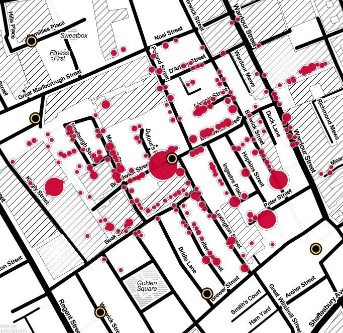 Interactive and modernized: John Snow's cholera map of London recreated