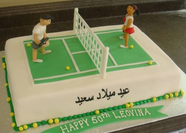 Tennis Cake Decorations Uk : 17 Best images about Sports cakes on Pinterest Soccer ...
