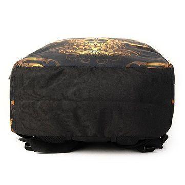 Men Women Outdoor Travel Skull Pattern Polyester Multifunctional Shoulders Bag B - US$17.73
