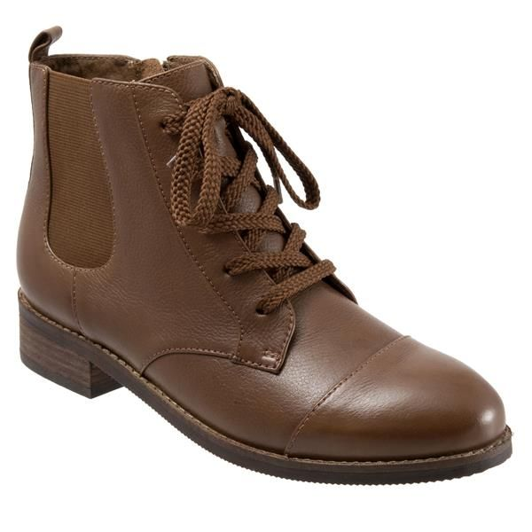 Softwalk Women's Miller Boot, Cognac, M US. Breathable leather lining. Non  marking outsole.