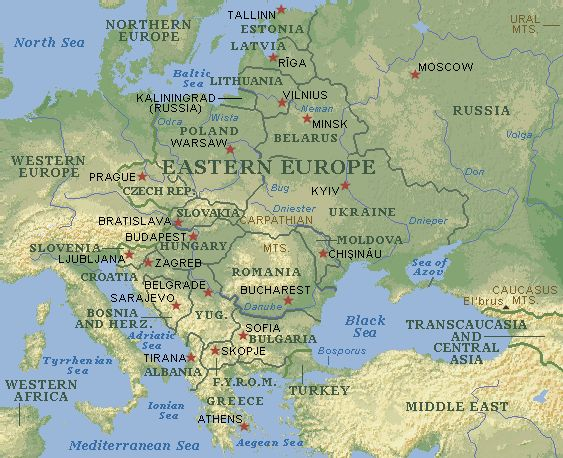 maps of eastern europe – Travel Map Of Eastern Europe
