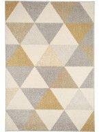 Teppich Pastel Geomet Gelb