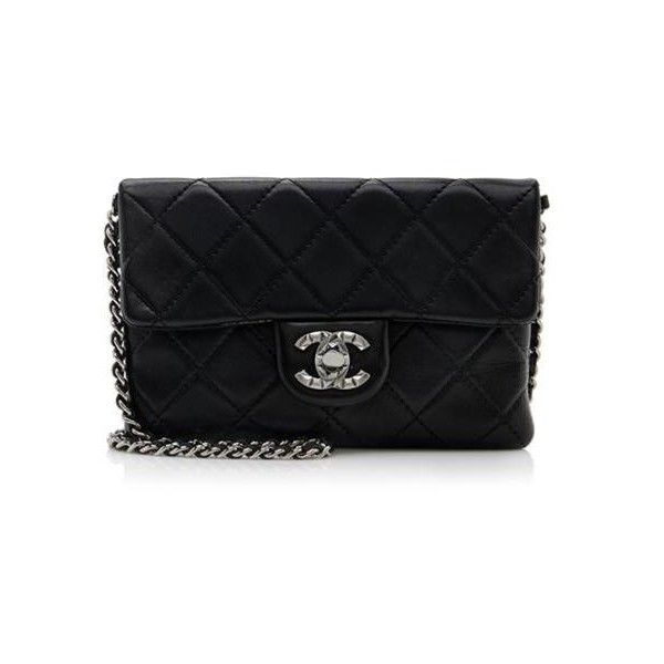 Rental Chanel Mineral Nights Small Flap Shoulder Bag (15.760 RUB) ❤ liked on Polyvore featuring bags, handbags, shoulder bags, black, chanel, purses, handbags purses, quilted chain strap shoulder bag, quilted handbags and quilted shoulder handbags