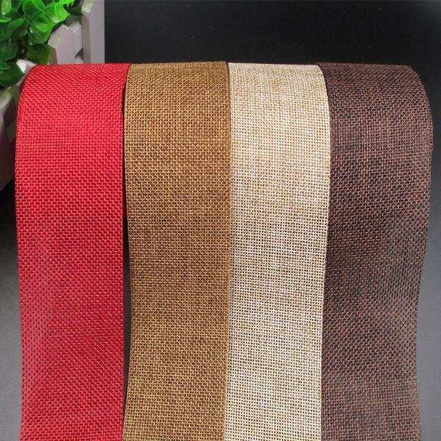 5 cm de ancho tela de lino de la cinta del cordón de DIY ramo de la boda del arte del arte de costura de la decoración del hogar Material de embalaje de regalo