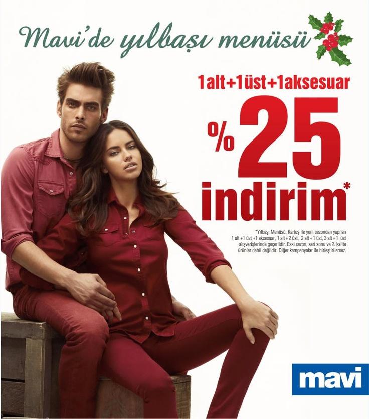 Mavi Aralık 2012 Yılbaşı Menüsü'ne Özel %25 İndirim