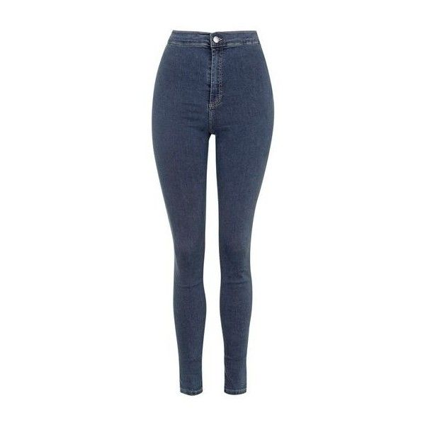 TopShop Tall Moto Sulphur Joni Jeans ($52) ❤ liked on Polyvore featuring jeans, dusty blue, high-waisted jeans, topshop, high-waisted skinny jeans, high waisted jeans and highwaist jeans