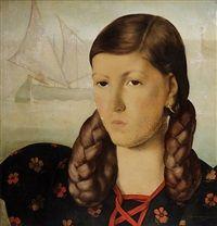 Głowa dziewczyny by Czeslaw Wdowiszewski
