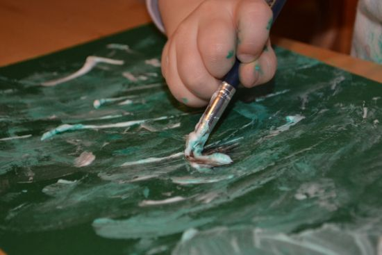 Simple Fun for Kids: Painting with Colored Shaving Cream