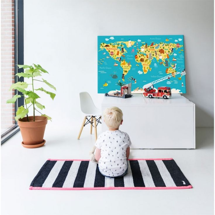 Wereldkaart poster voor kids