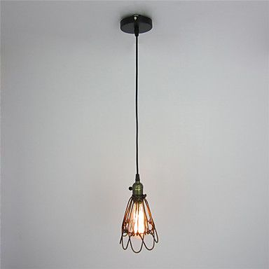 Awesome Retro Contracted Metal Loft Pendant Lights Creative Black Painting Living Room Dining Room Garage light Fixture