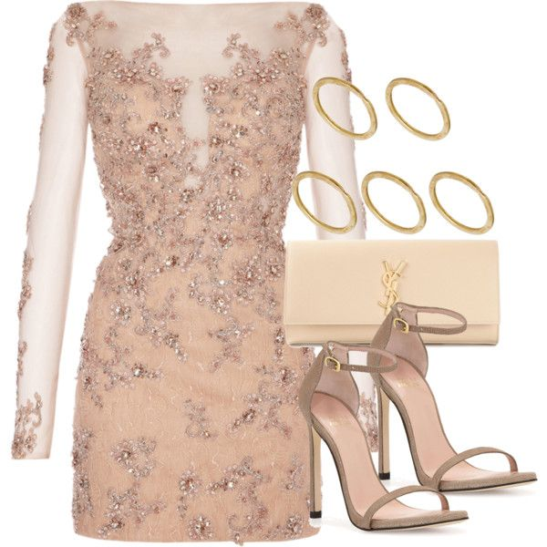 Style #8129 by vany-alvarado on Polyvore featuring Stuart Weitzman, Yves Saint Laurent and Made