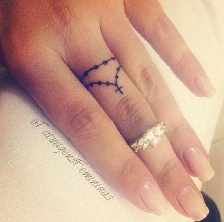 Primeira tatuagem, fazer no dedo é uma opção legal.