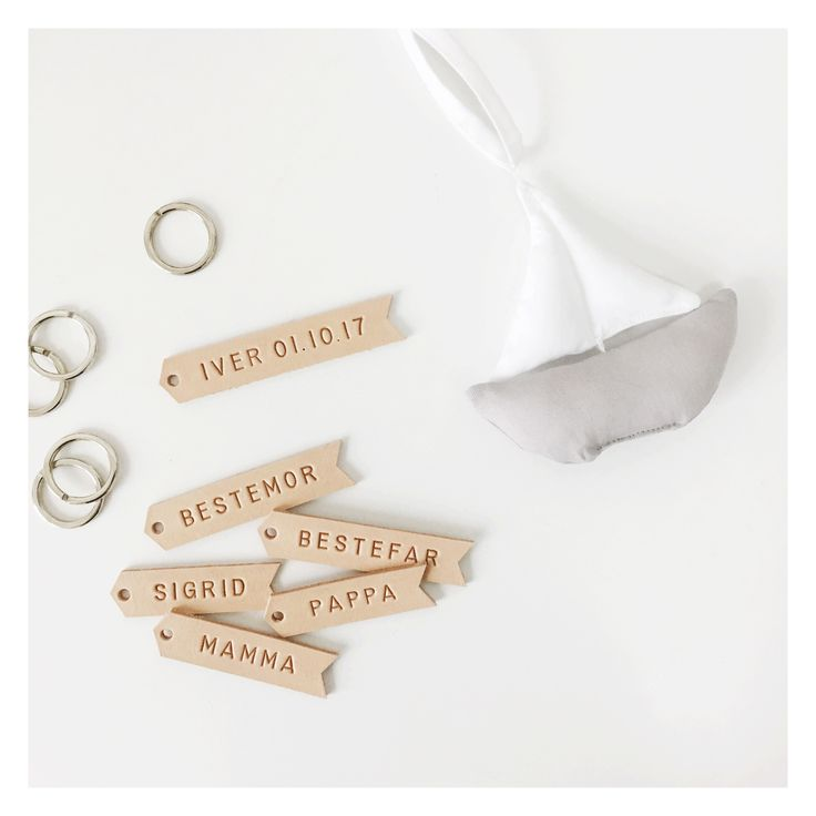 Personal leather place cards for wedding, birthday, christening and more.  Shop: www.thejonico.dk Instagram: @thejonico