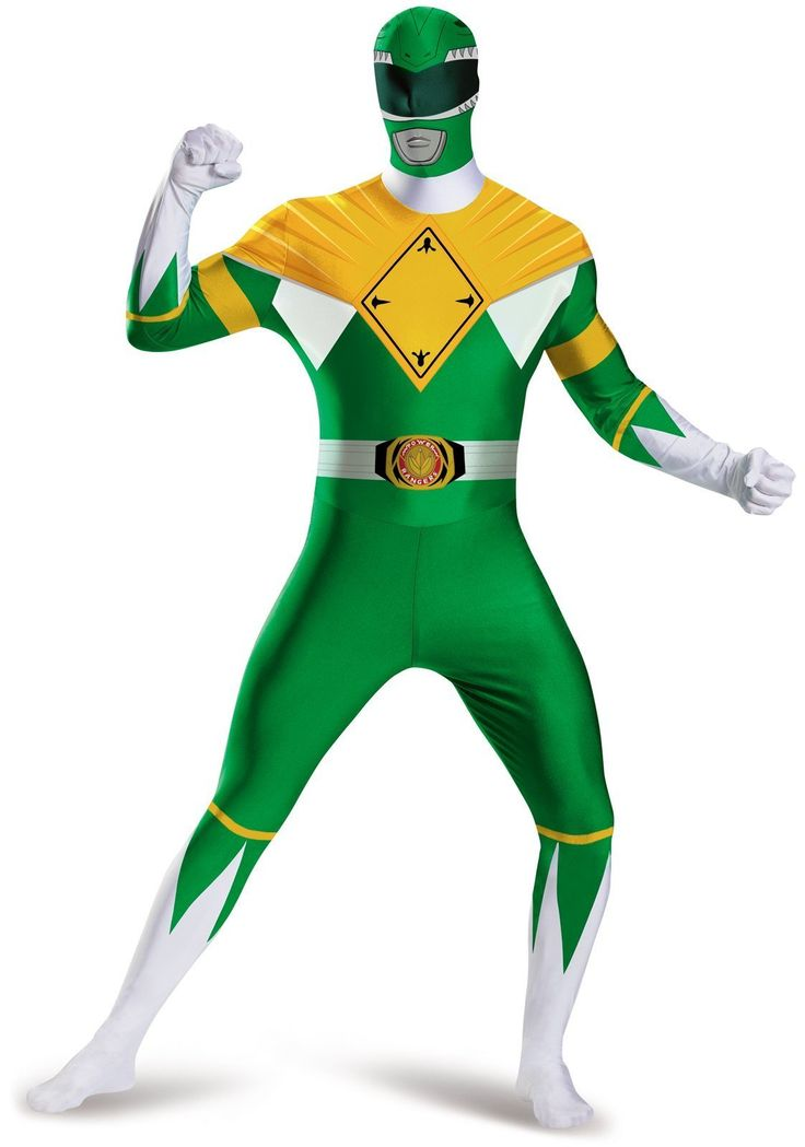 Mighty Morphin Power Rangers: Green Ranger Bodysuit Adult Costume Plus