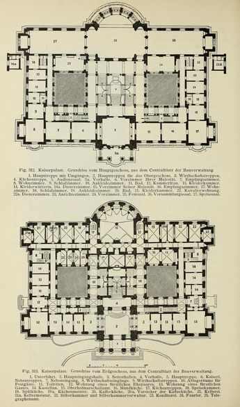 Kaiserpalast (Palais du Rhin), Strasbourg. The Kaiser's residence in Elsass-Lothringen (late XIX century).