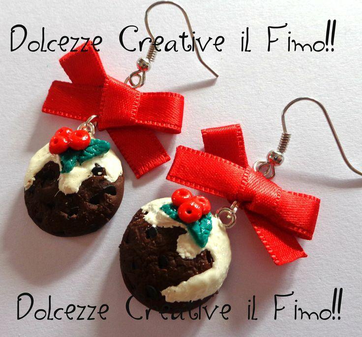 ☃Natale In Dolcezze 2013☃ Orecchini #Cookie, biscotti glassati con agrifoglio, by Dolcezze creative Il #fimo, 7,00 € su #misshobby.com