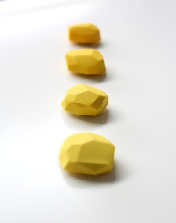 Yellow geo magnets