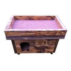 Cuccia in legno con tavolo per orto CUCCIORTO