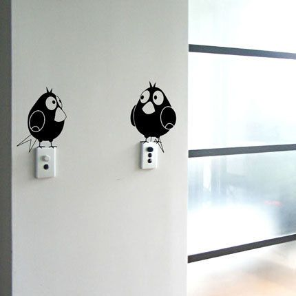 Modern Wall Decals: Baby Birds Will Light Up Your Life - My Modern Metropolis
