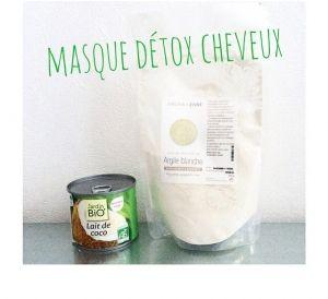 Masque detox cheveux