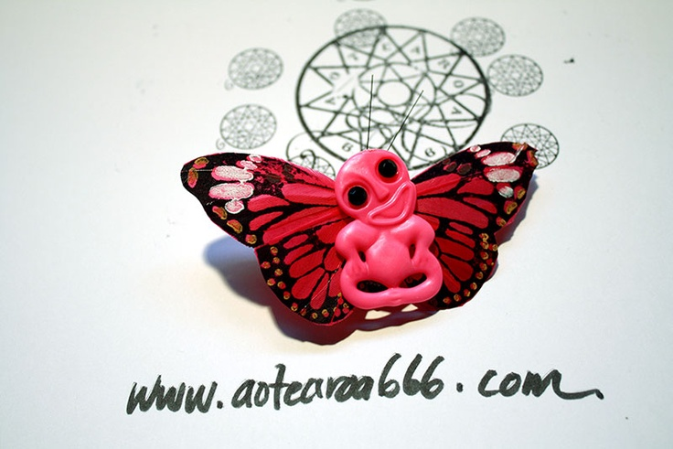"""""""I'm a pink tikifly and I'm OKAY"""" got a pink pair of wings and I flap all day! $20 plus postage and packaging."""